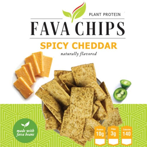 Spicy Cheddar Fava Chips
